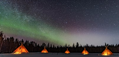 GLAMPING HOLIDAY BENEATH THE NORTHERN LIGHTS IN LAPLAND